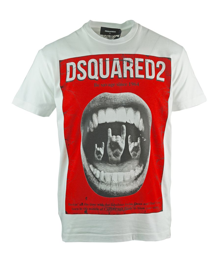 Image for Dsquared2 Cool Fit Punk Rock White T-Shirt