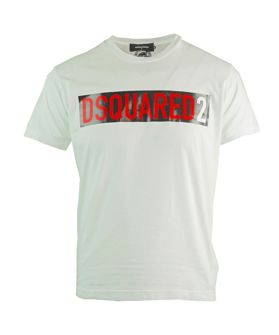 Image for Dsquared2 Cool Fit Block Logo White T-Shirt