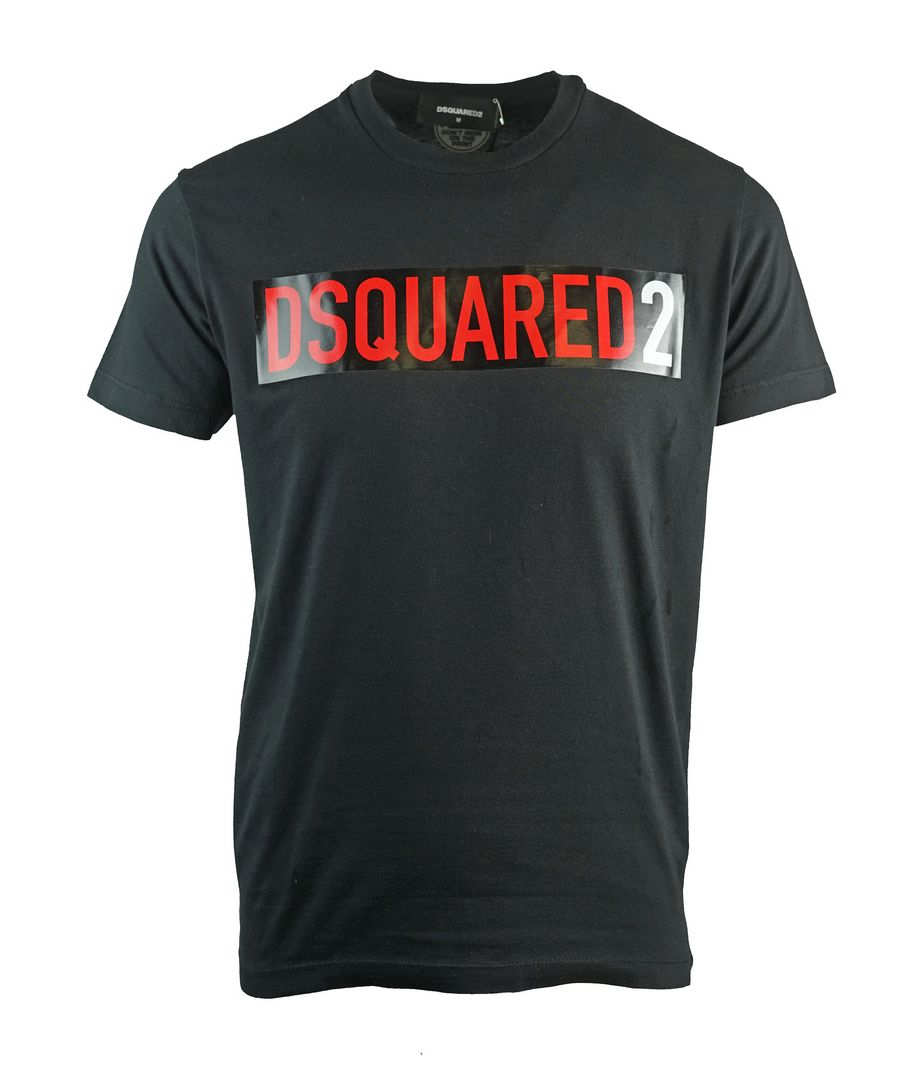 Image for Dsquared2 Cool Fit Block Logo Black T-Shirt