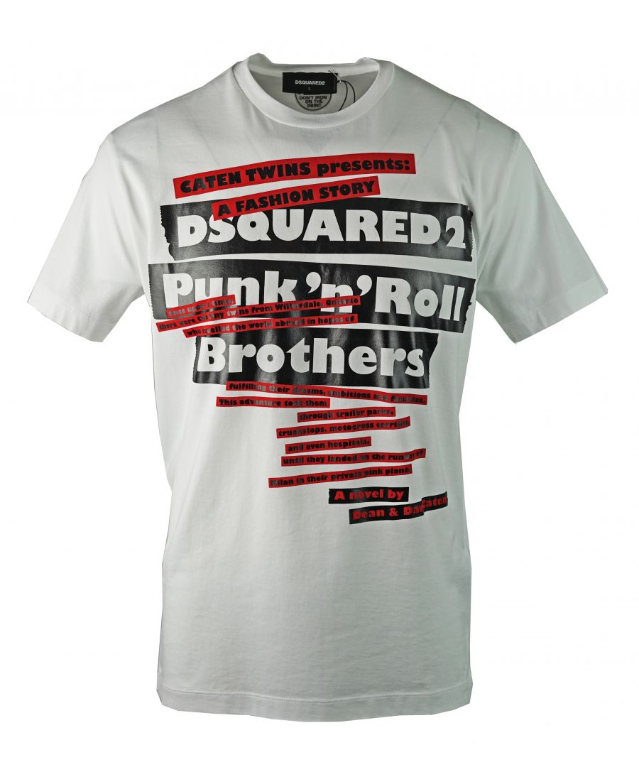 Image for DSquared2 S74GD0484 S22844 100 T-Shirt