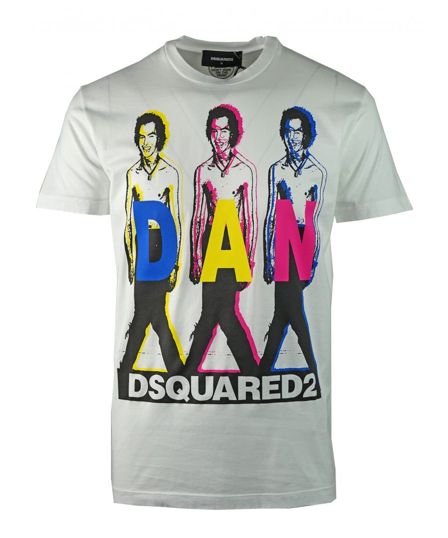 Image for DSquared2 S74GD0498 S22427 100 T-Shirt