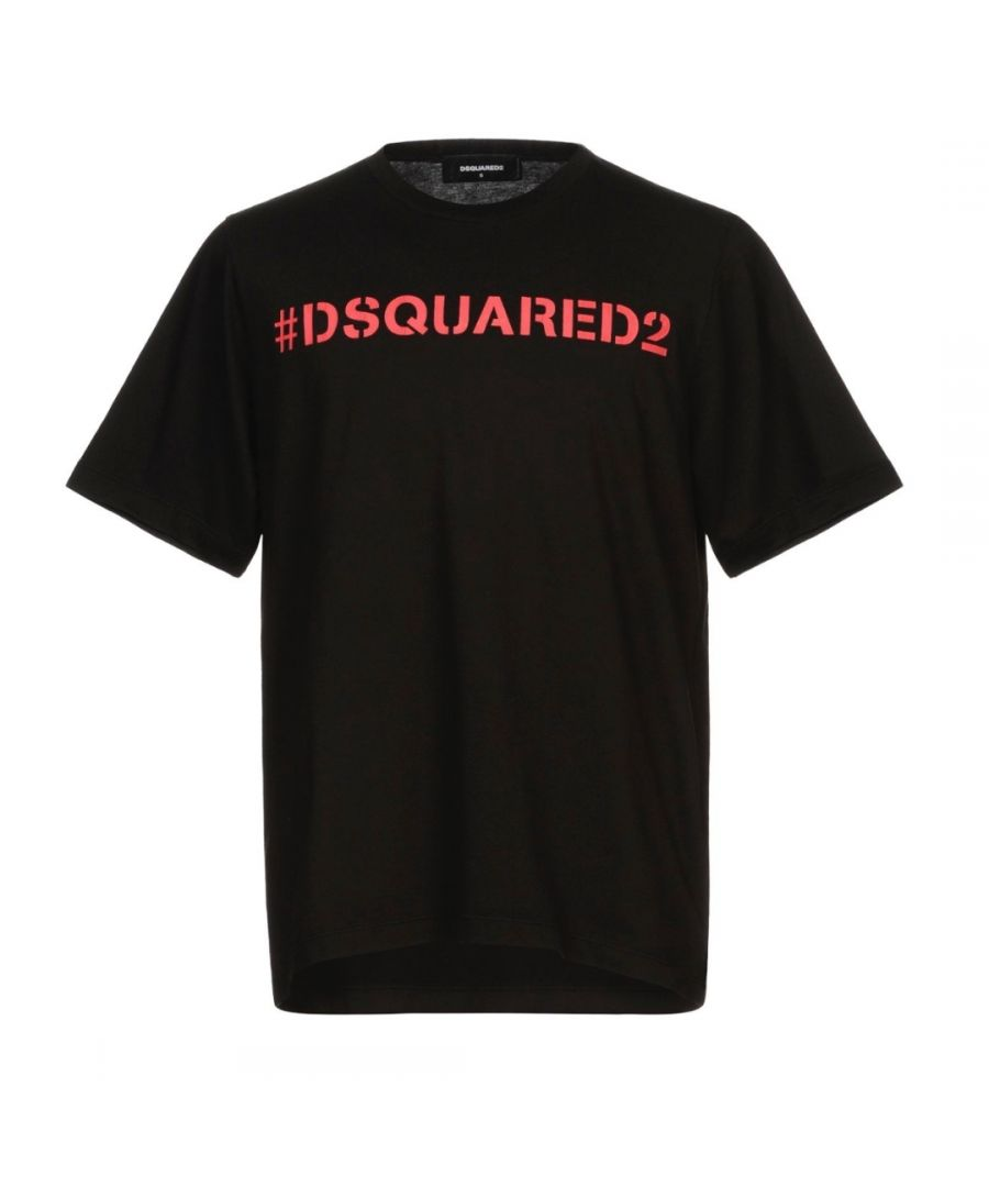 Image for Dsquared2 Hashtag Logo Oversize Black T-Shirt