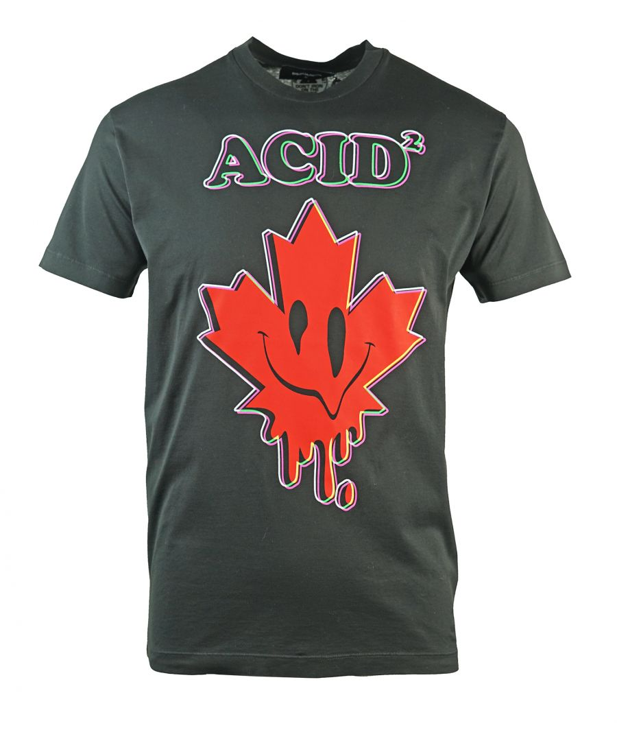 Image for Dsquared2 Cool Fit Acid Maple Leaf Black T-Shirt