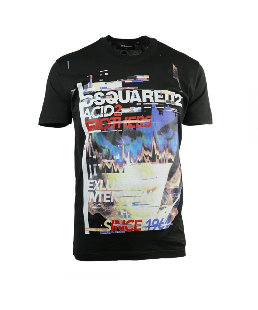 Image for Dsquared2 Acid2 Cool Fit Black T-Shirt
