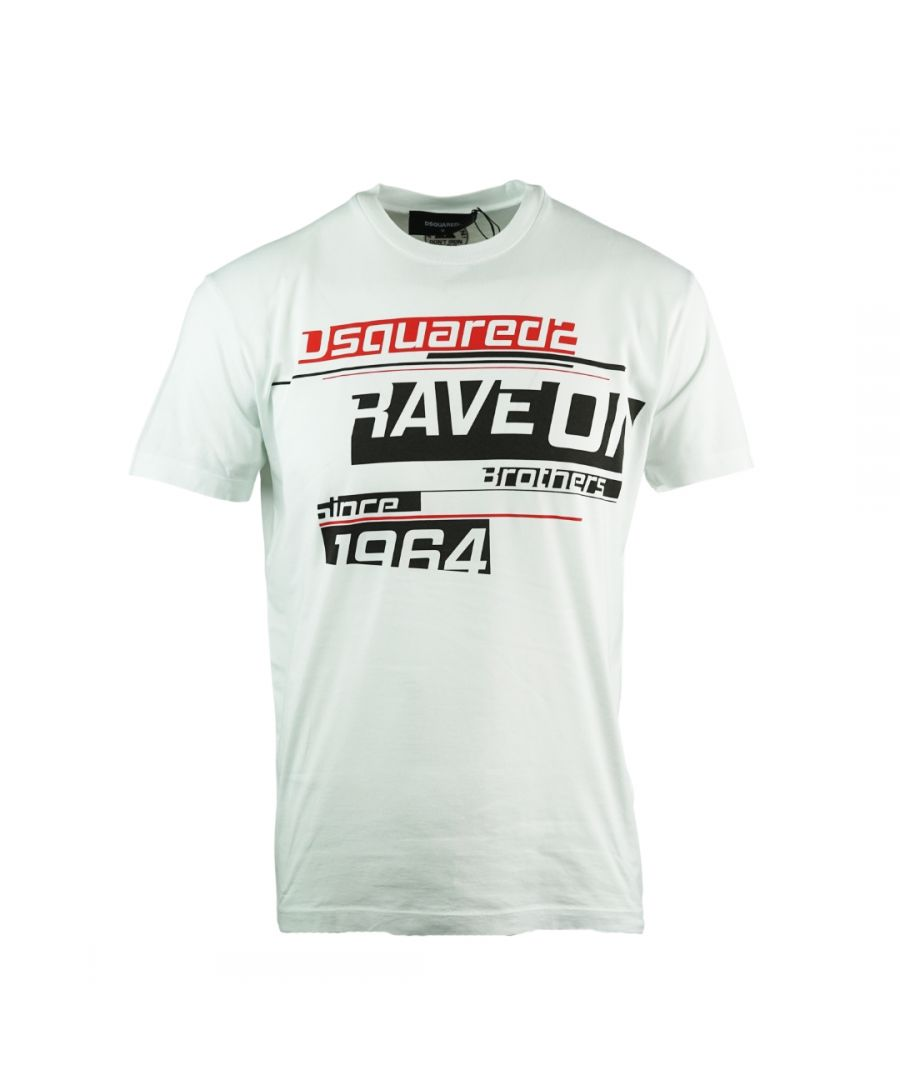 Image for Dsquared2 Rave On Cool Fit White T-Shirt