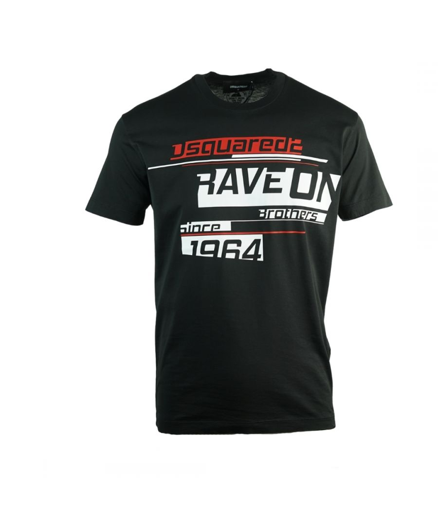 Image for Dsquared2 Rave On Cool Fit Black T-Shirt