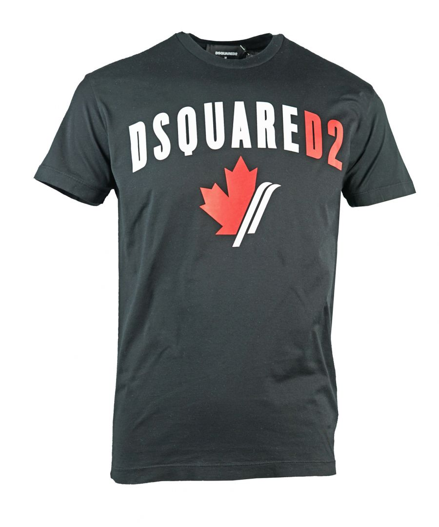 Image for Dsquared2 Cool Fit Maple Leaf Logo Black T-Shirt