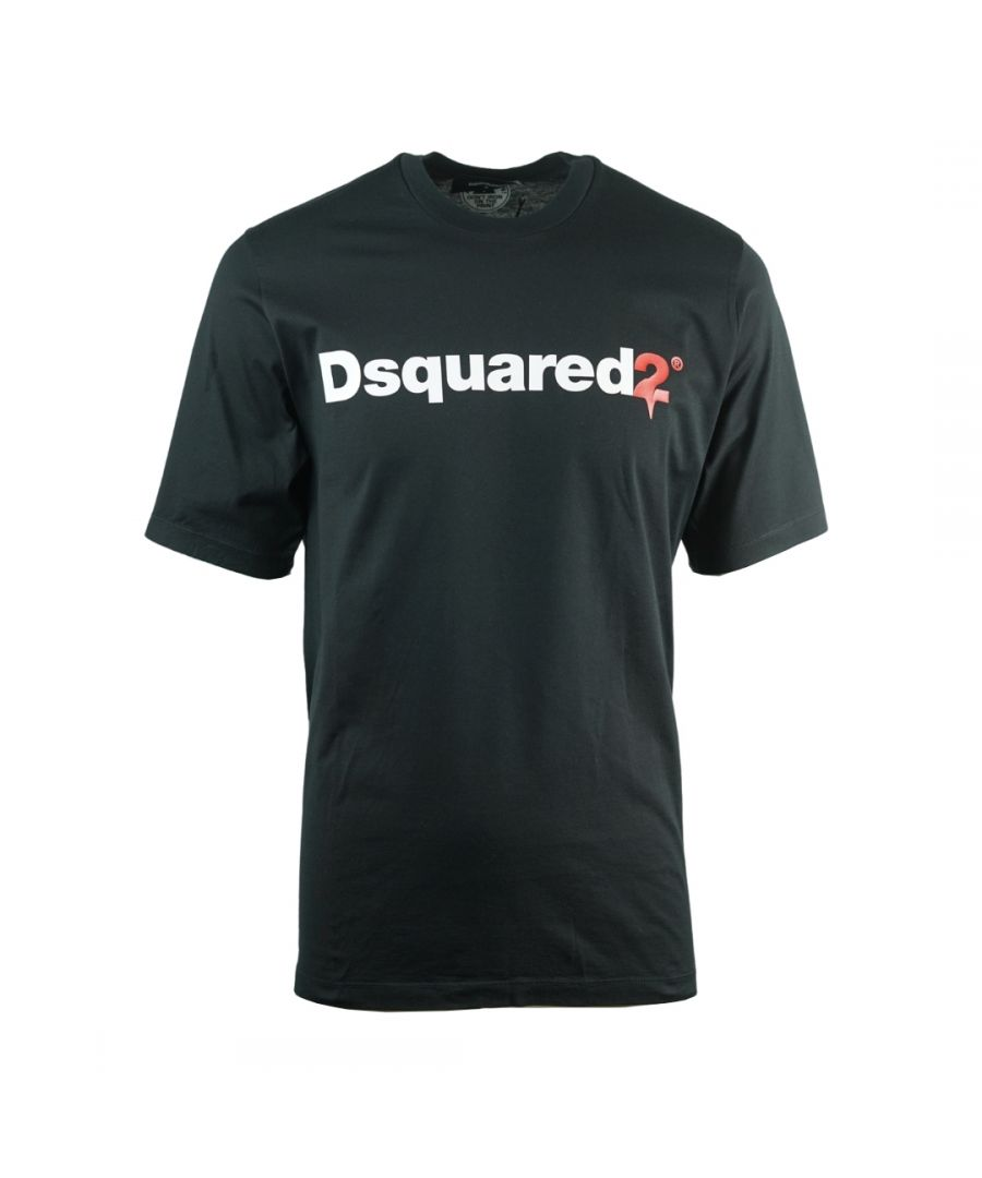 Image for Dsquared2 Drip Logo Slouch Fit Black T-Shirt