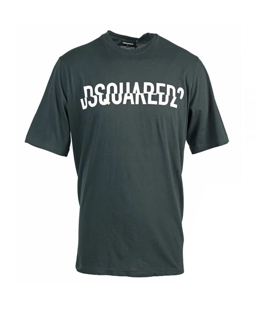 Image for Dsquared2 Cut Logo Oversize Black T-Shirt