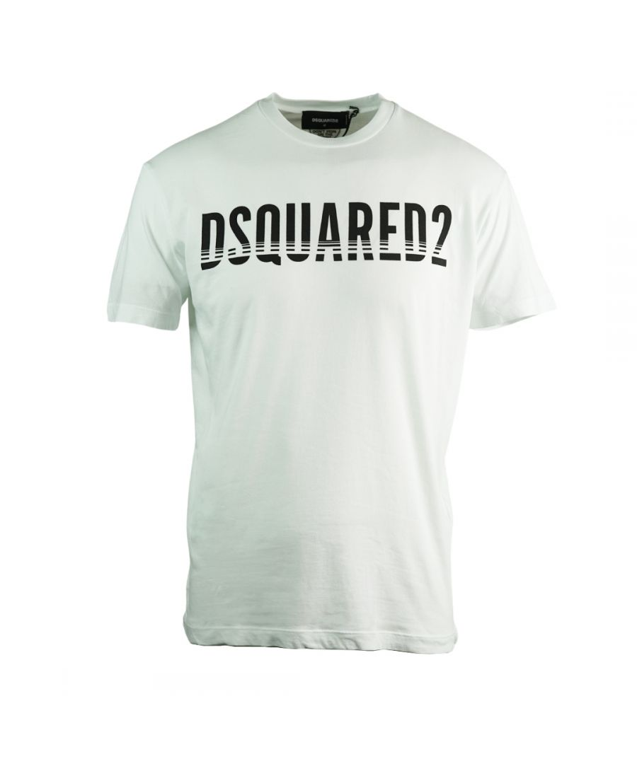 Image for Dsquared2 Sliced Logo Cool Fit White T-Shirt