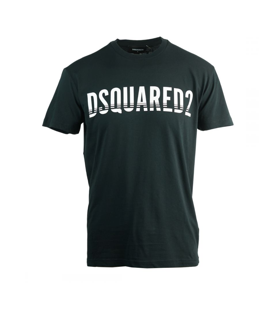 Image for Dsquared2 Sliced Logo Cool Fit Black T-Shirt