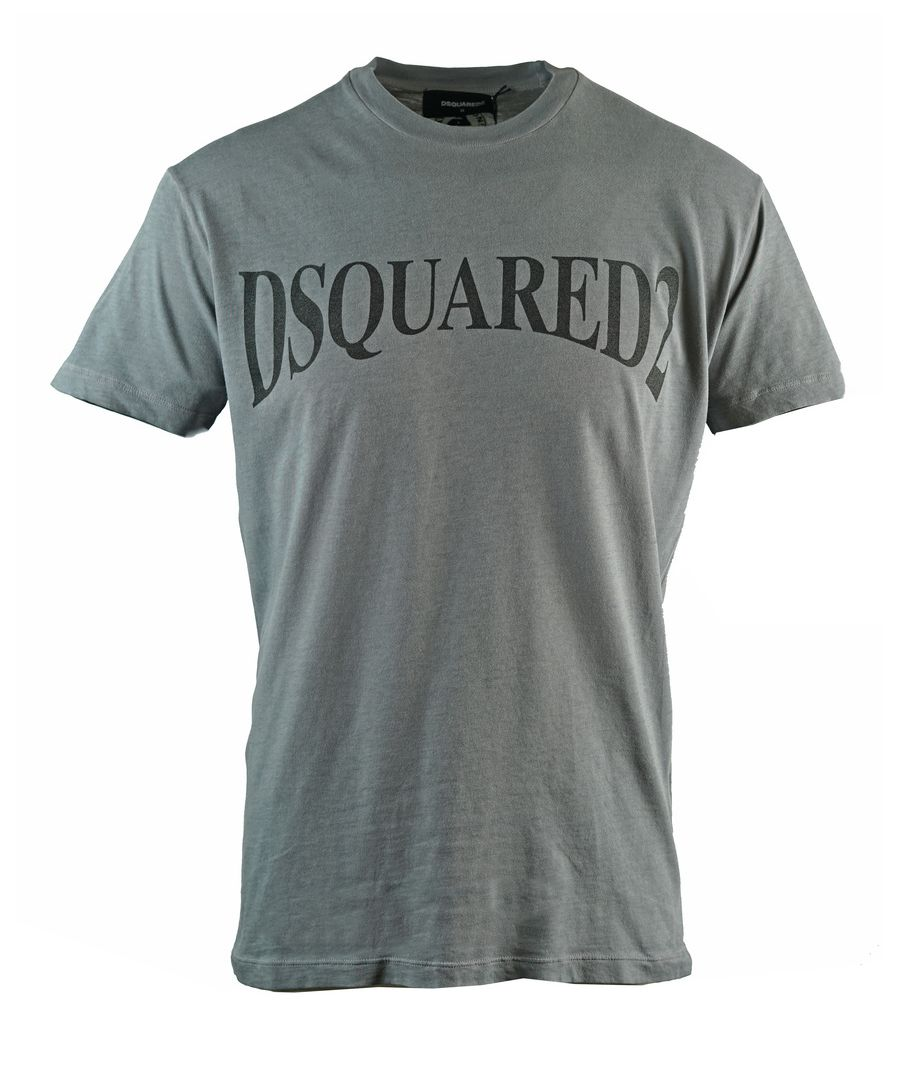 Image for Dsquared2 Panoramic Logo Cool Fit Grey T-Shirt
