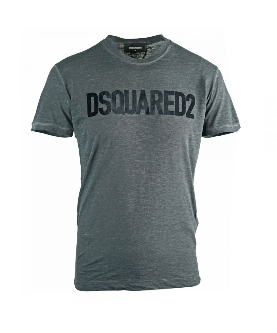Image for Dsquared2 Velvet Logo Grey T-Shirt