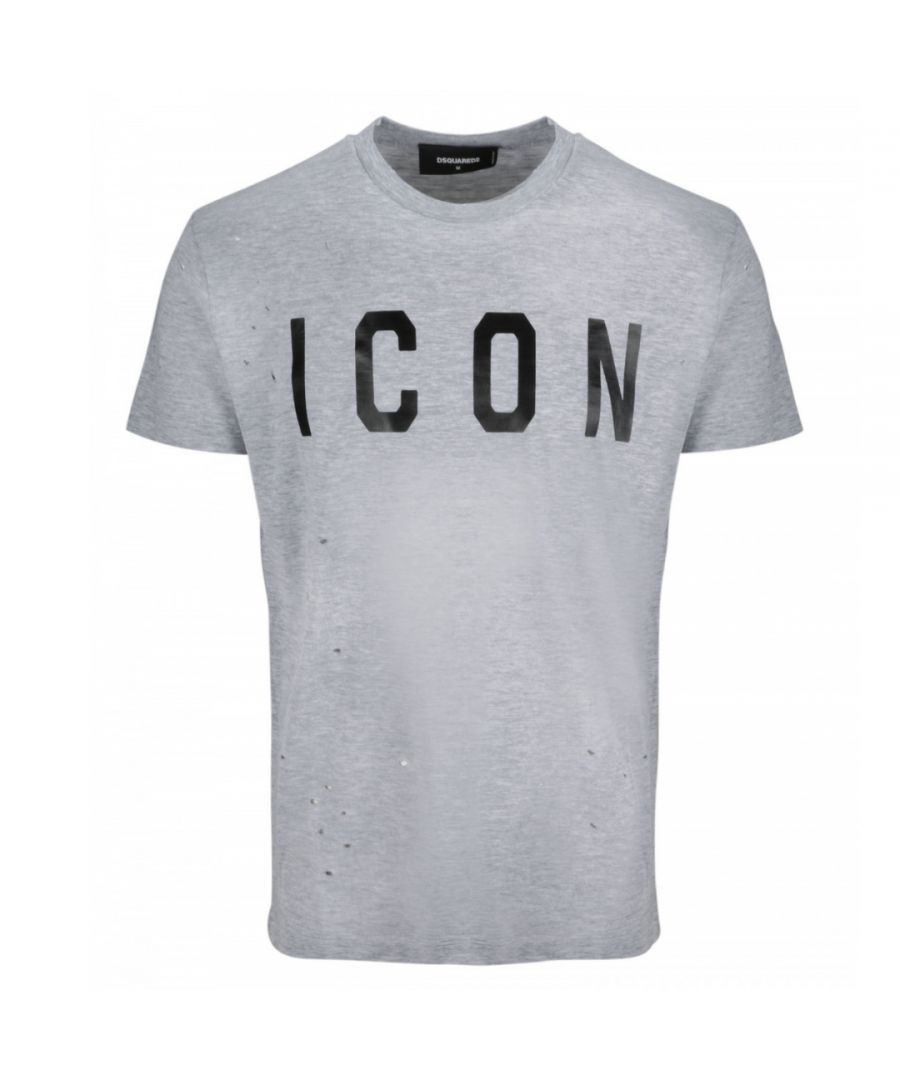 Image for Dsquared2 Cool Fit Paint Splash ICON Grey T-Shirt