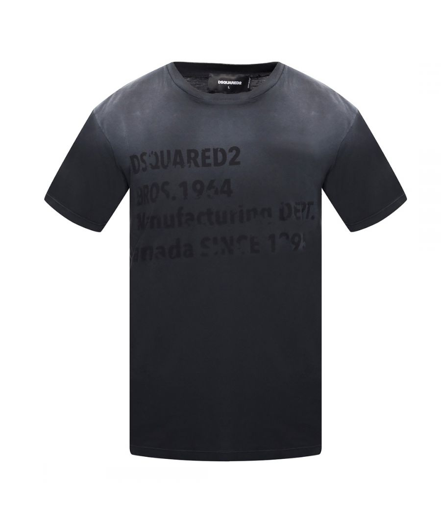 Image for Dsquared2 Cool Fit Faded Black T-Shirt