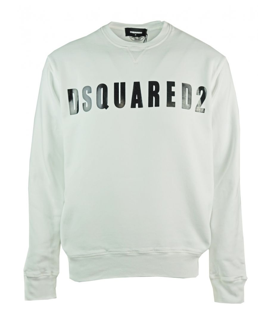 Image for Dsquared2 Large Logo Print White Jumper