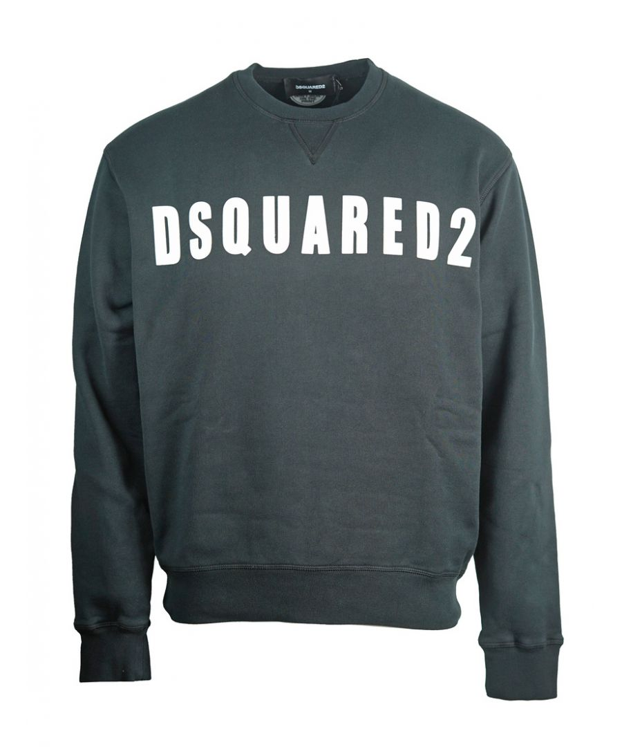 Image for Dsquared2 Large Logo Print Black Jumper