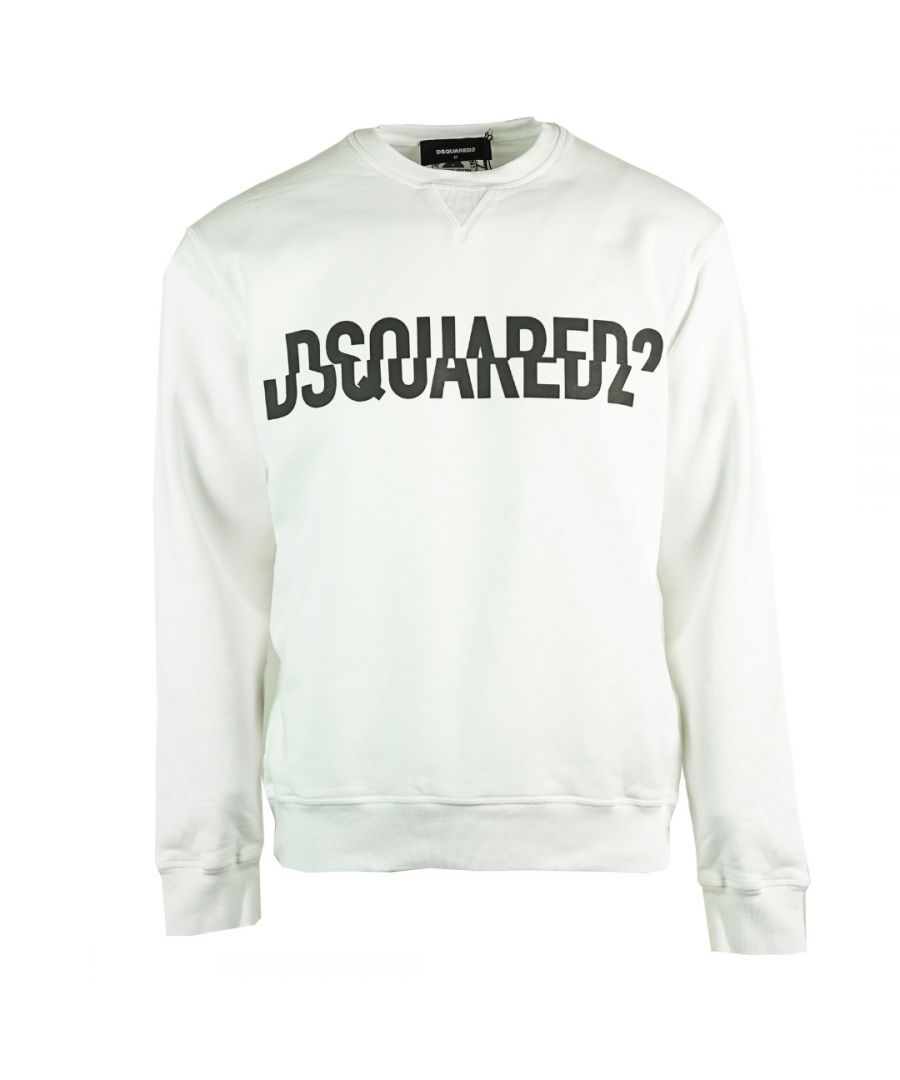 Image for Dsquared2 Sliced Logo Cool Fit White Sweatshirt