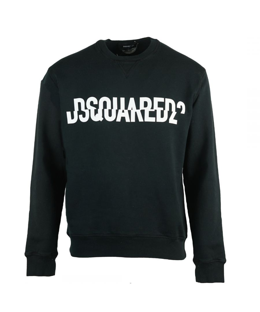 Image for Dsquared2 Sliced Logo Cool Fit Black Sweatshirt
