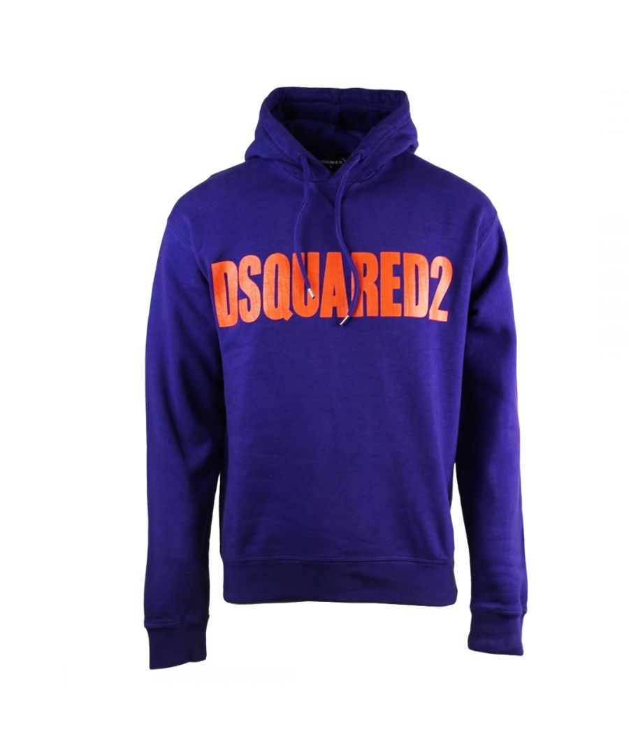 Image for Dsquared2 New Dan Fit Large Logo Purple Hoodie