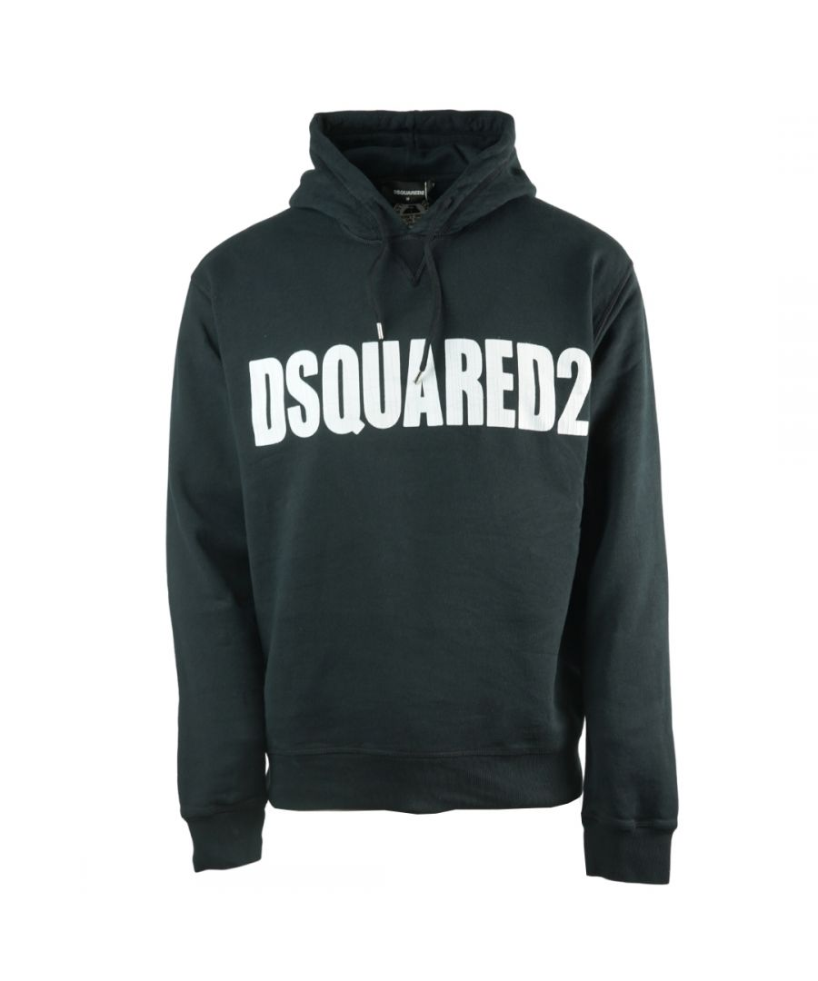 Image for Dsquared2 New Dan Fit Large Logo Black Hoodie