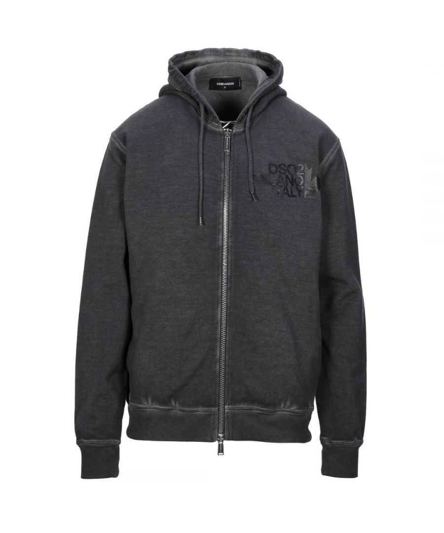 Image for Dsquared2 Cool Fit Milano Logo Grey Hoodie
