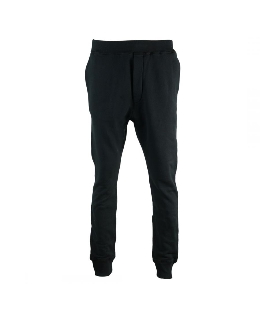 Image for Dsquared2 Slouch Fit Black Sweat Pants