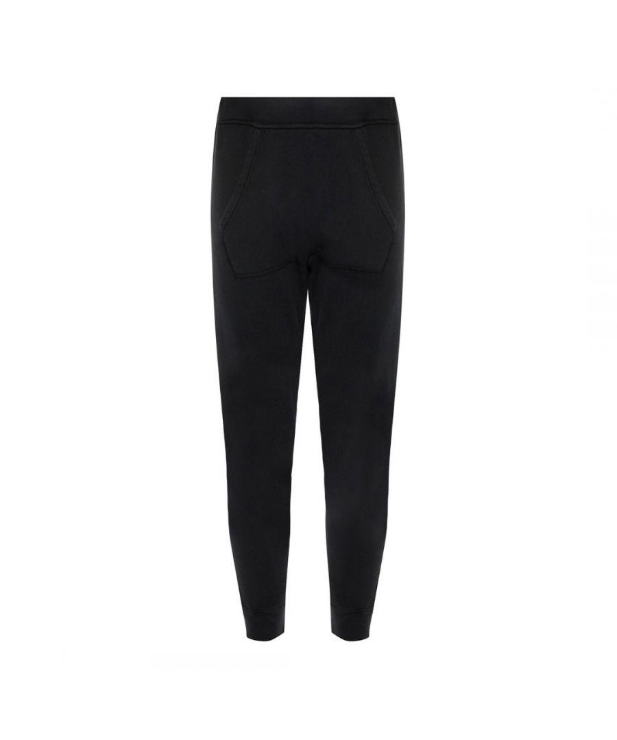 Image for Dsquared2 Dean Fit Branded Black Sweatpants