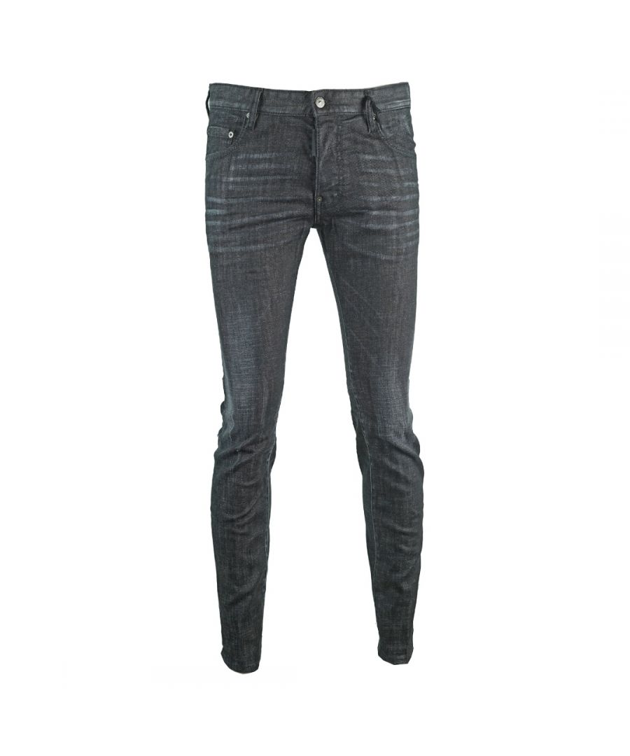 Image for Dsquared2 City Biker Jean Distressed Black Jeans