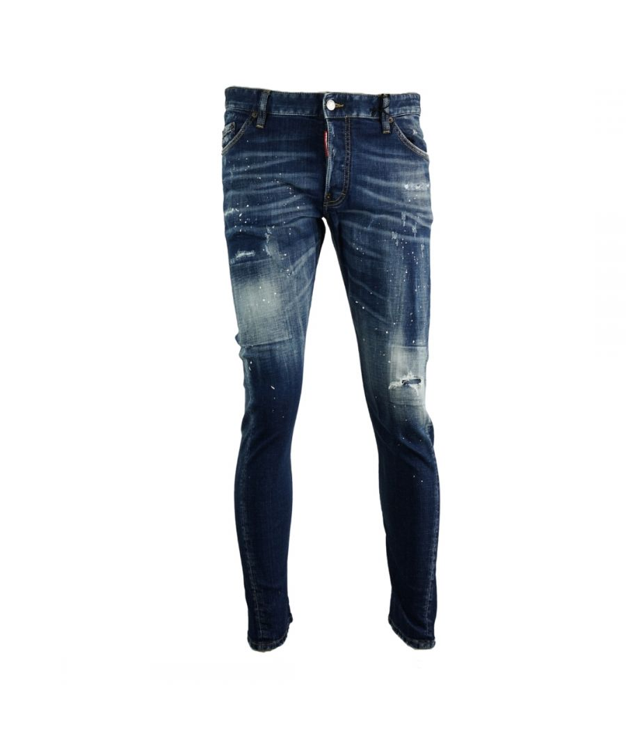 Image for Dsquared2 Sexy Twist Jean Paint Splatter Jeans