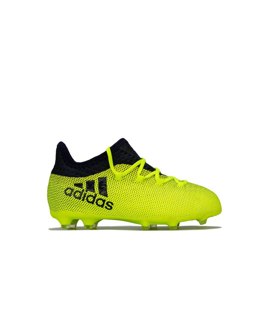 Image for Boy's adidas Junior X 17.1 Firm Ground Football Boots in Yellow