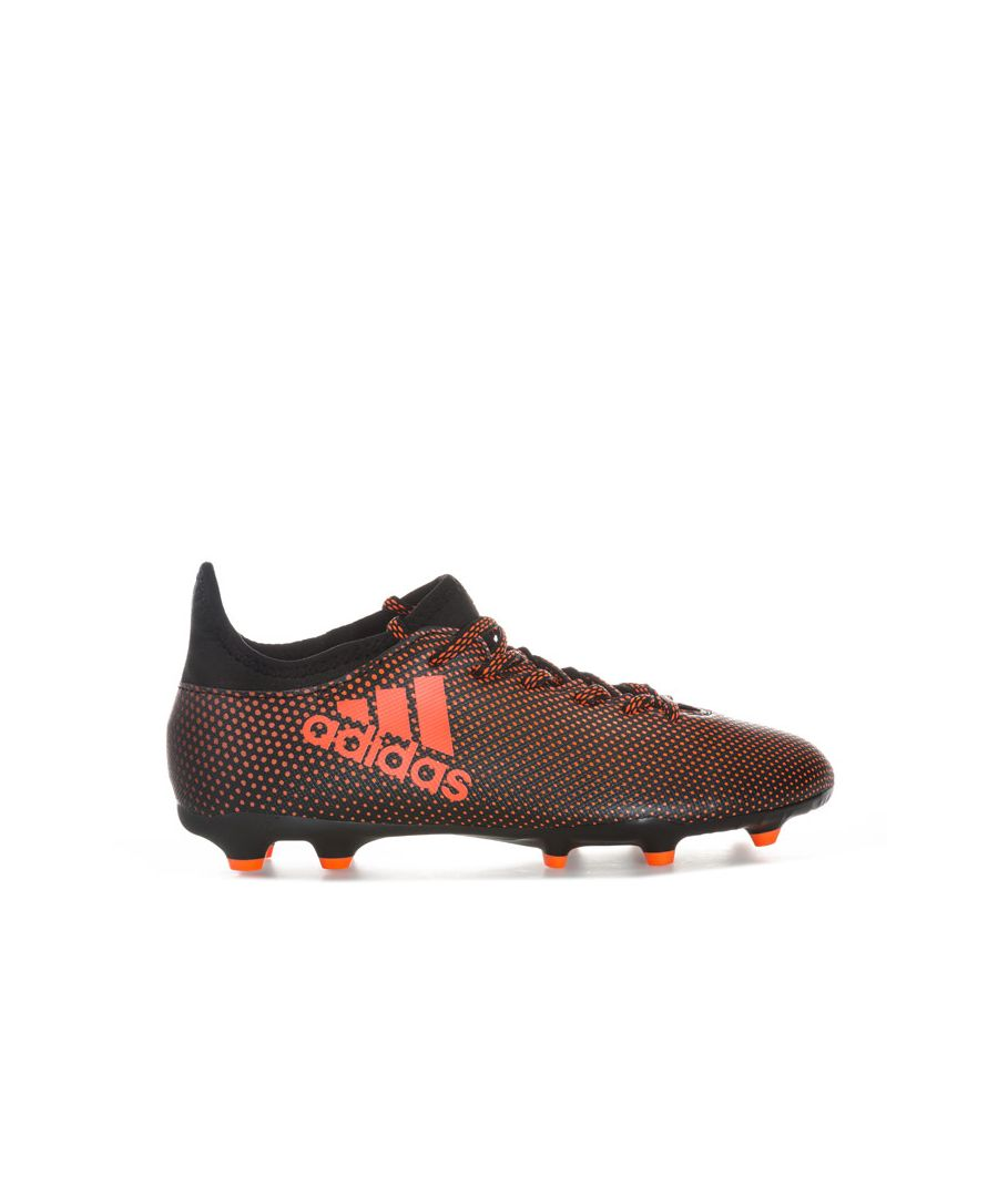 Image for Boy's adidas Junior X 17.3 FG Football Boots in Black Red