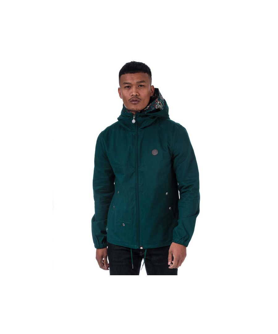 Image for Men's Pretty Green Beckford Zip Up Hooded Jacket in Teal