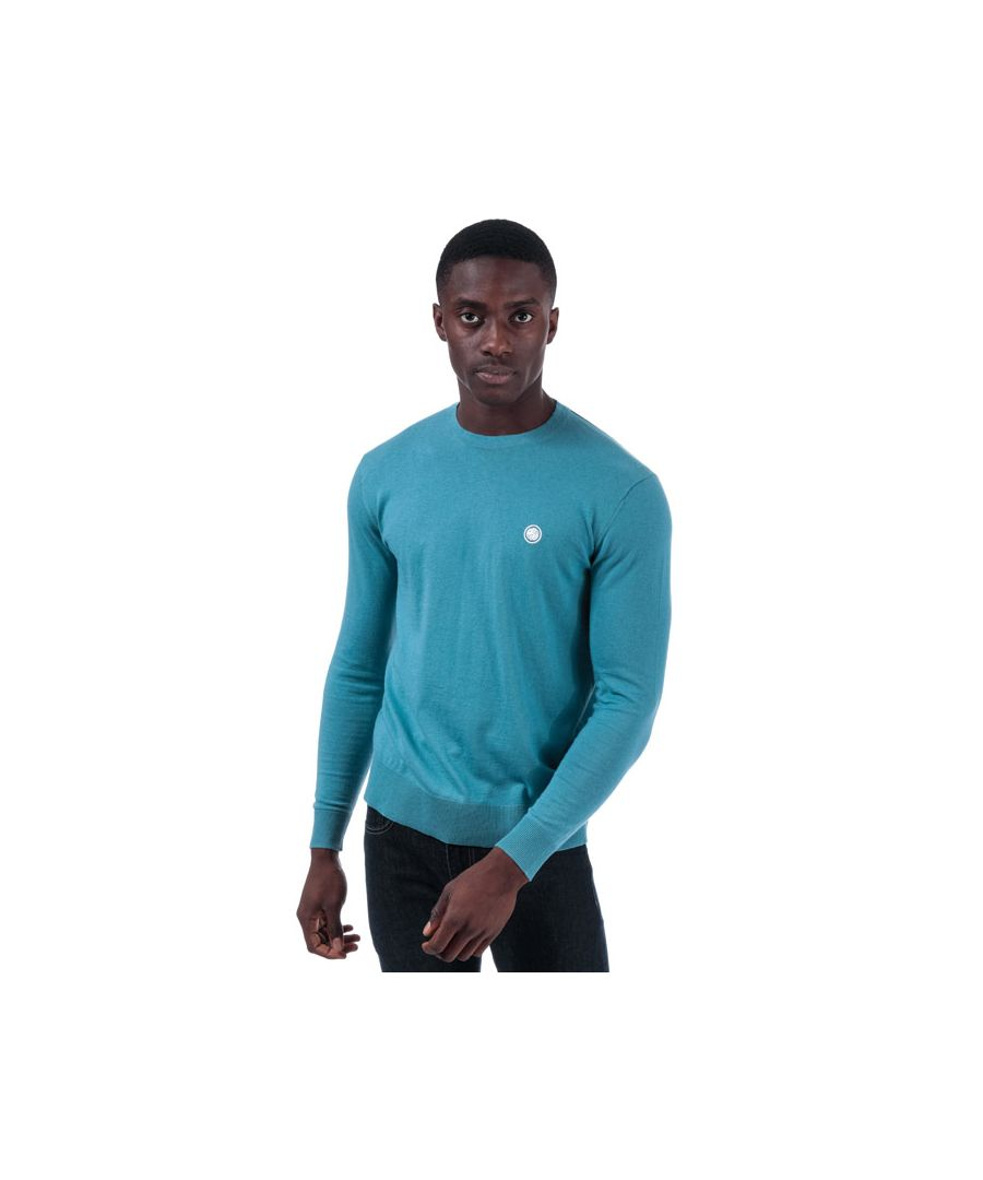 Image for Men's Pretty Green Seasonal Hinchcliffe Crew Knit in Blue