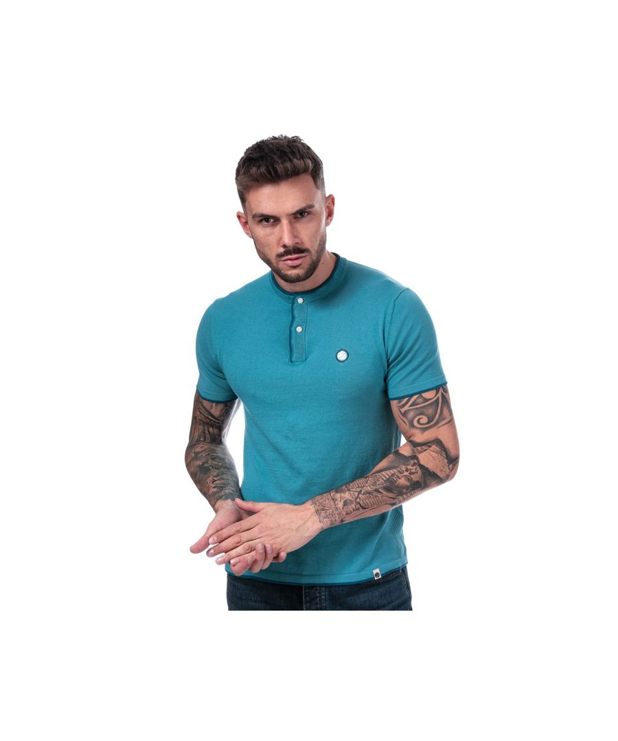 Image for Men's Pretty Green Stockton Knit G-Dad T-Shirt in Blue