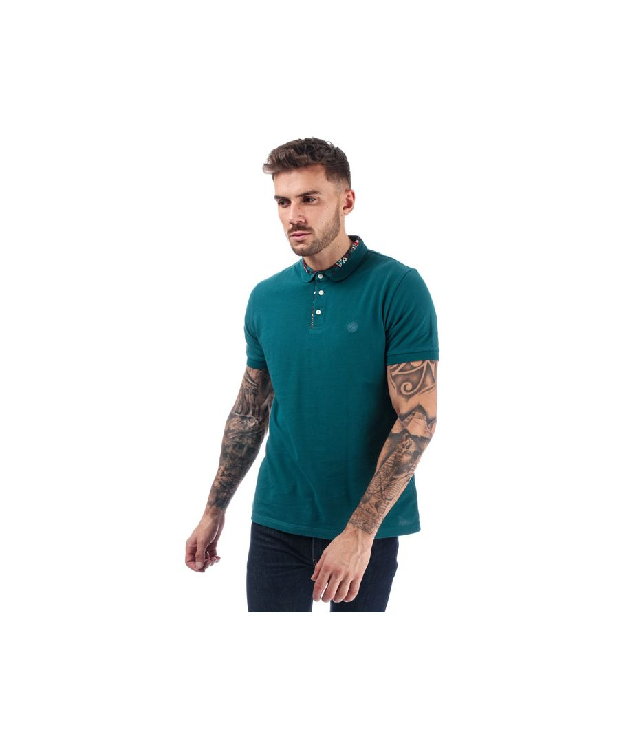 Image for Men's Pretty Green Nightshade Carver Polo Shirt in Teal