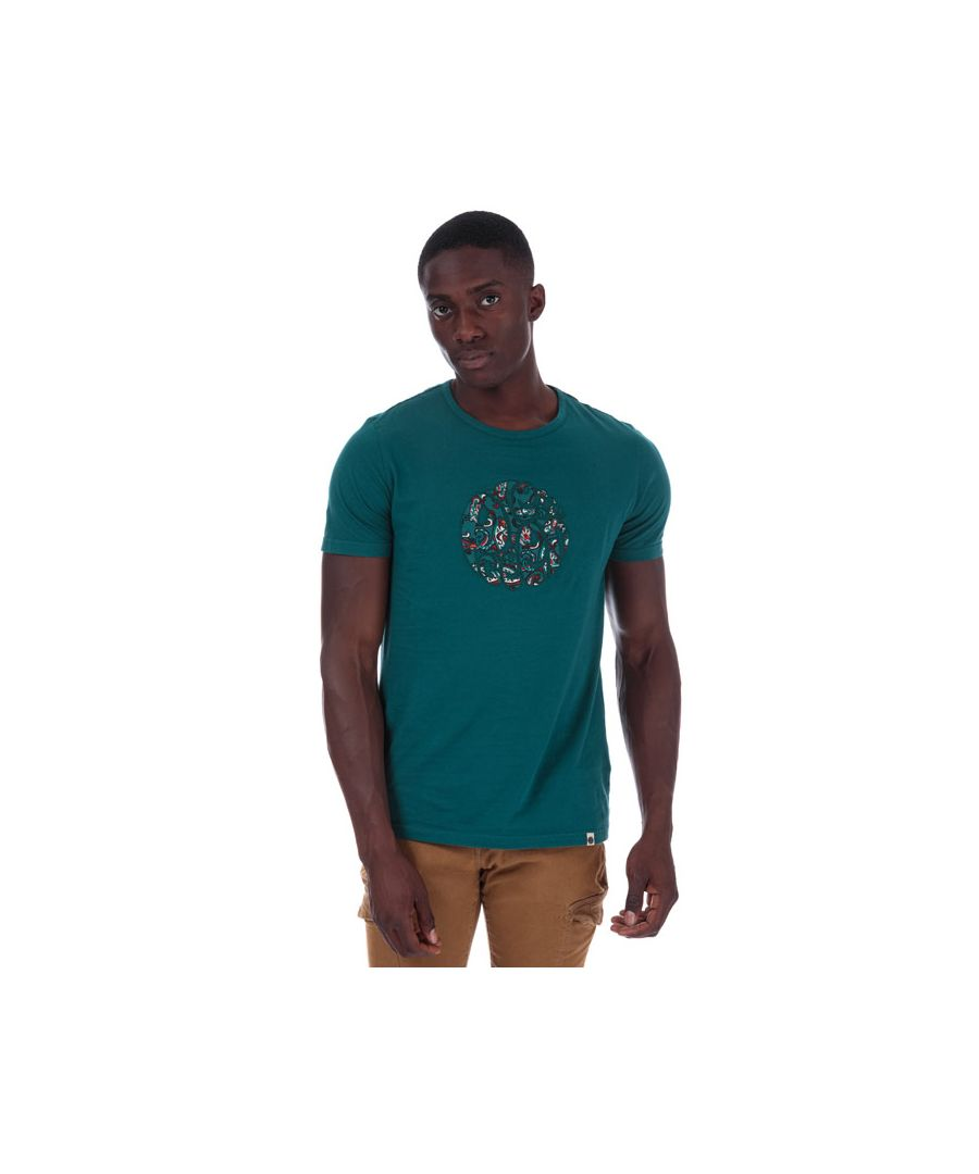 Image for Men's Pretty Green Nightshade Applique T-Shirt in Teal