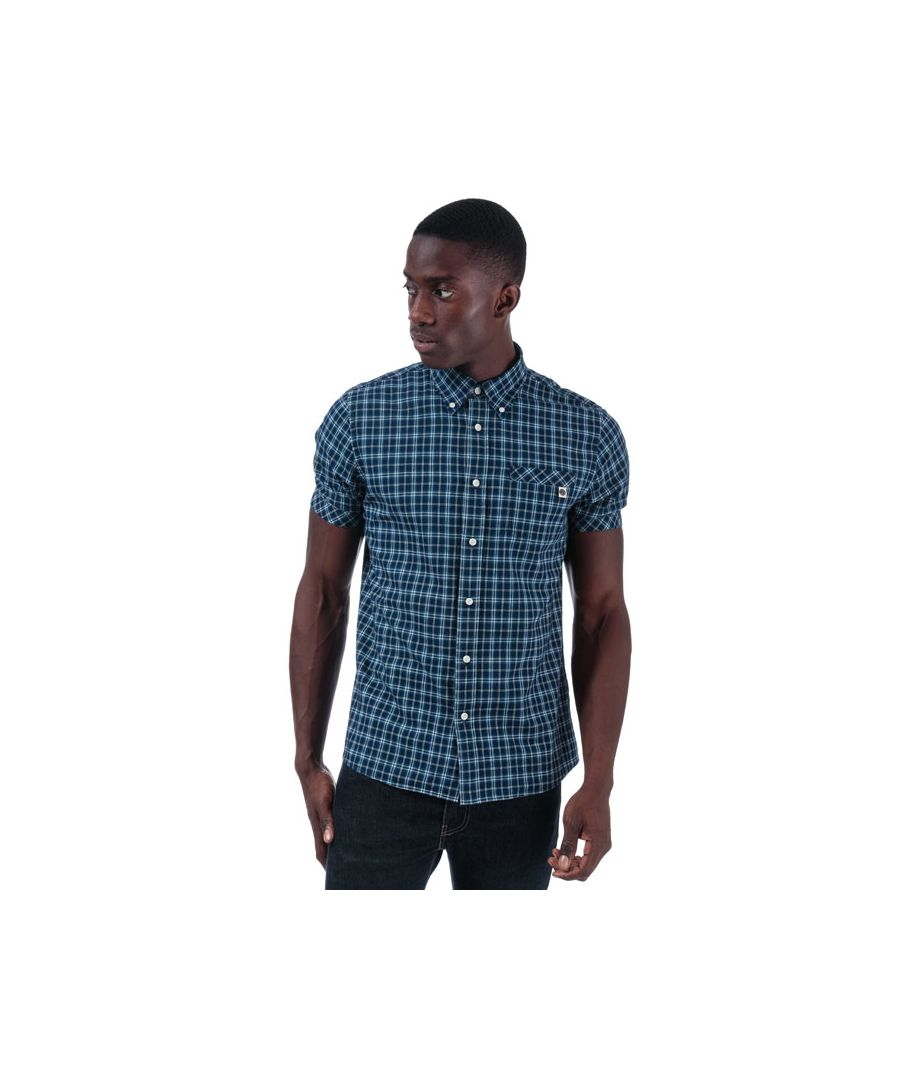 Image for Men's Pretty Green Indeck Check Shirt in Navy