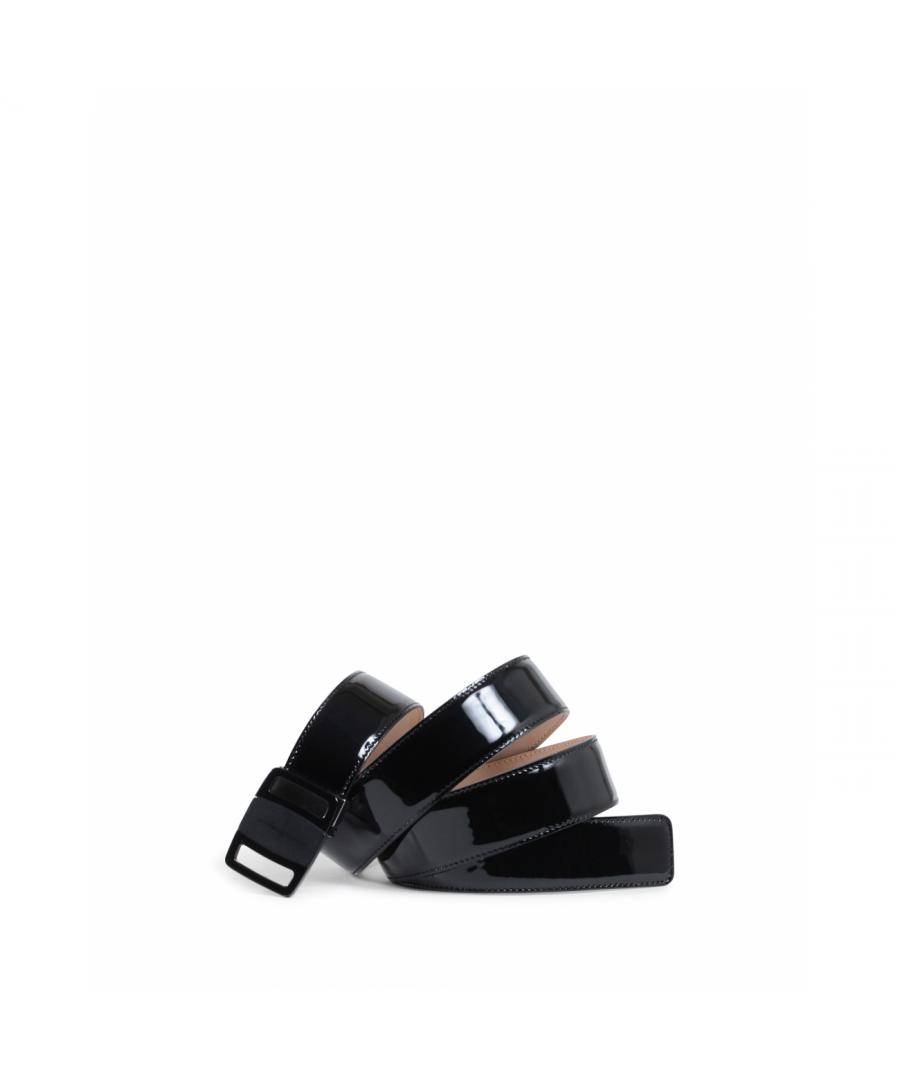 Image for Salvatore Ferragamo Mens Adjustable Belt Black 679775 697074