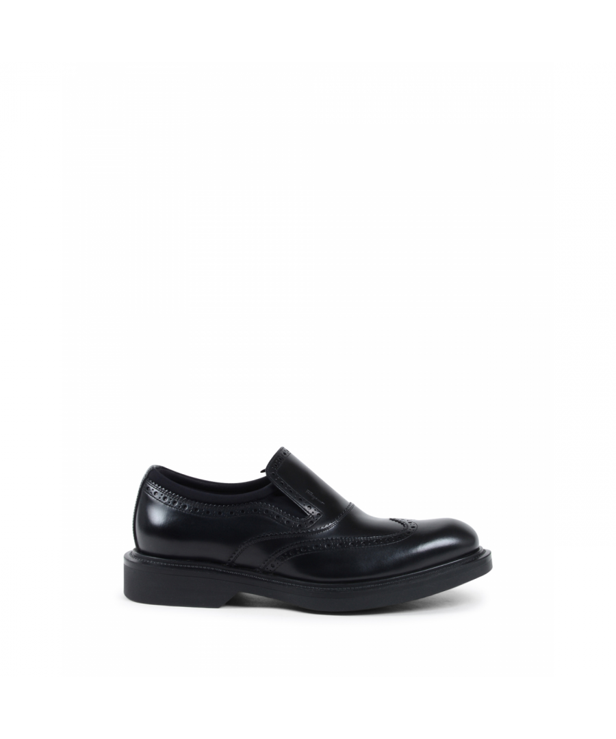 Image for Salvatore Ferragamo Mens Brogue Black DOWLING