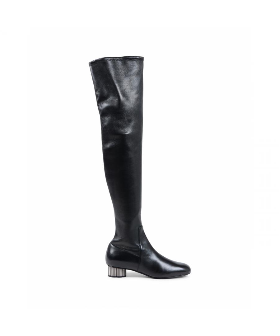 Image for Salvatore Ferragamo Womens High Boot Black BRINDISI