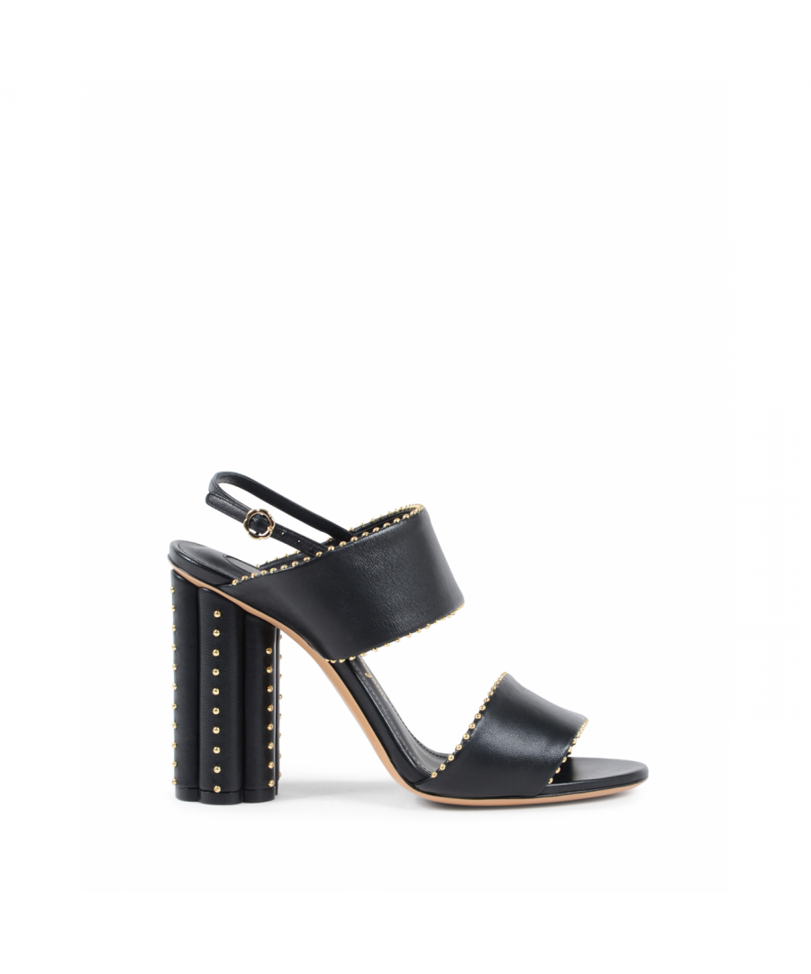 Image for Salvatore Ferragamo Womens Sandal Black CARPI
