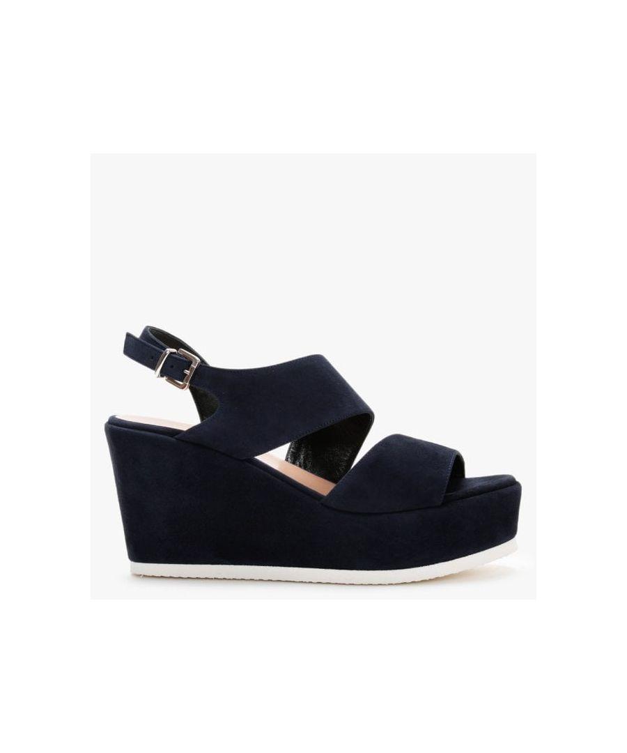Image for Daniel Samara Suede Asymmetric Strap Wedge Sandals