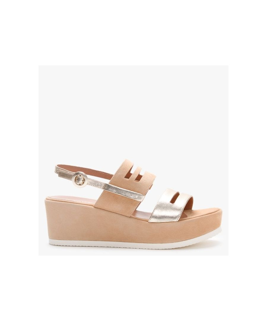 Image for Daniel Sarai Suede Two Tone Wedge Sandals