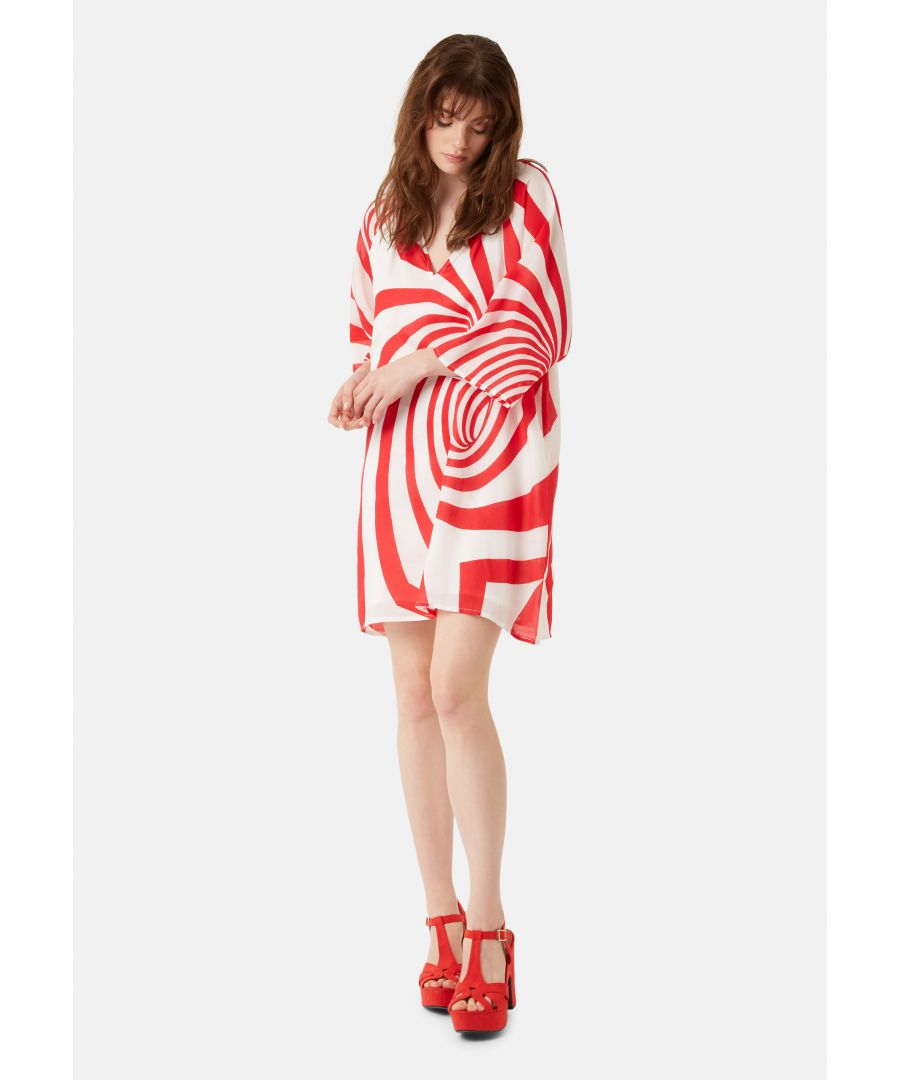 Image for Graphic Print Moments Mini Dress in Red