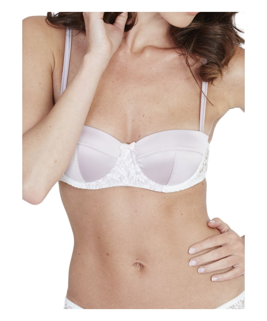Image for Satin & Lace Balcony Bra
