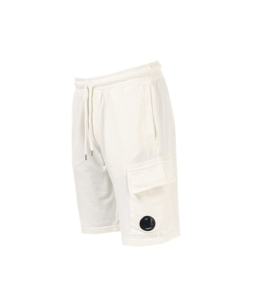 Image for Men's C.P. Company Light Fleece Short in White