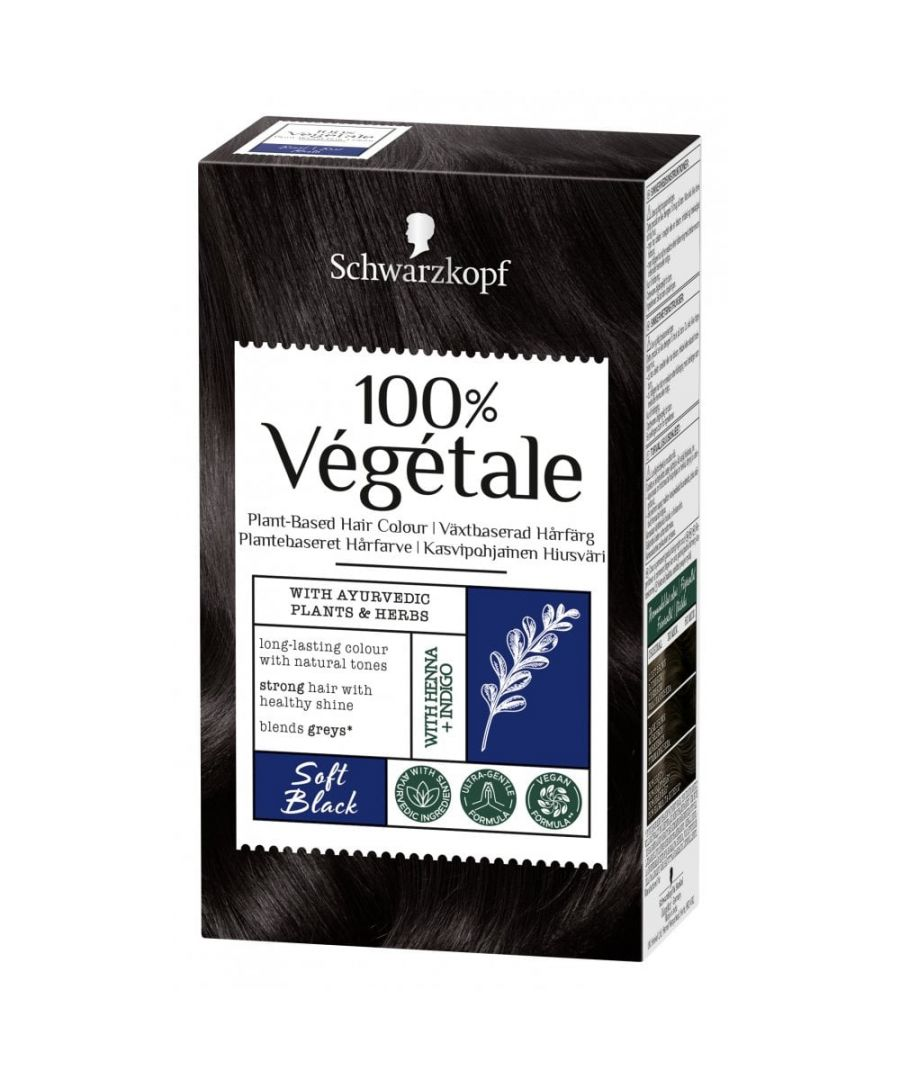 Image for Schwarzkopf 100% Végétale Plant-Based Hair Colour - Soft Black