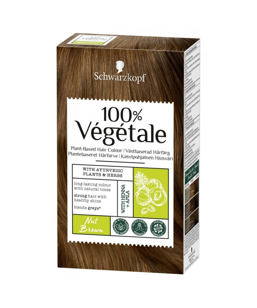 Image for Schwarzkopf 100% Végétale Plant-Based Hair Colour - Nut Brown