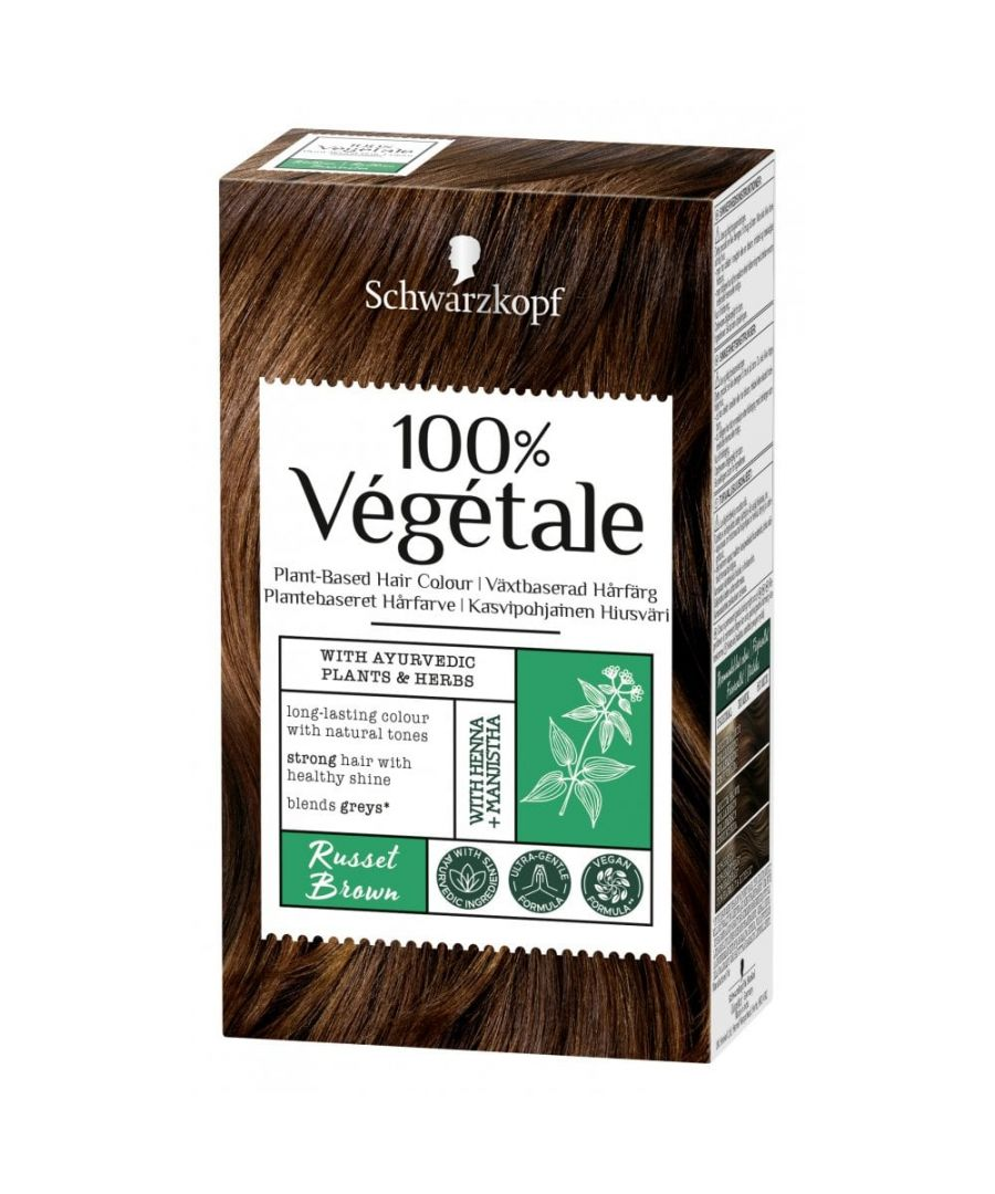 Image for Schwarzkopf 100% Végétale Plant-Based Hair Colour - Russet Brown